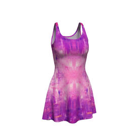 Behind.Purple-flare-dress-front